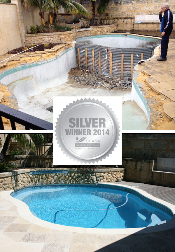 Future pools perth awards - Swimming pool water features perth ...